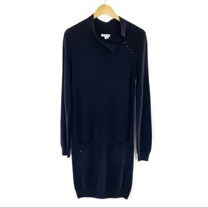 Lacoste Woolmark 100% Merino Wool Dress Black M
